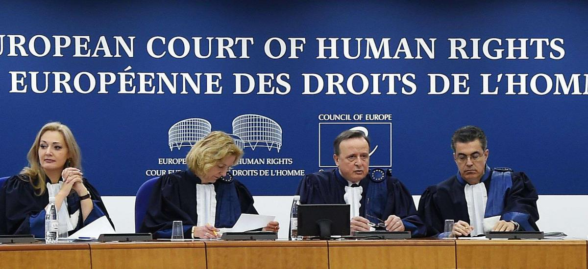 file photo taken on January 24, 2018 shows judges of the European Court of Human Rights (ECHR) attending a hearing in Strasbourg.