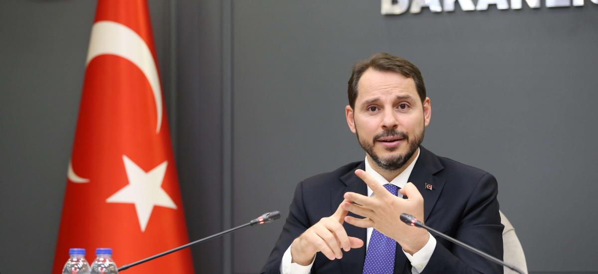 Turkish Finance Minister Berat Albayrak, son-in-law of President Erdoğan