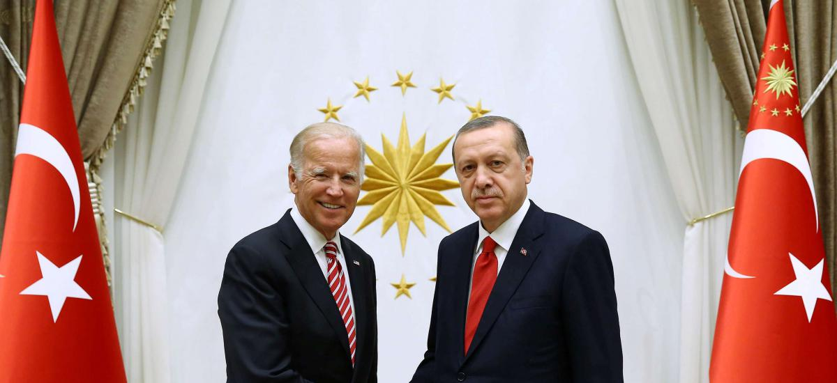 Turkish President Tayyip Erdogan (R) meets with U.S. Vice President Joe Biden at the Presidential Palace in Ankara, Turkey, August 24, 2016. Kayhan Ozer/Presidential Palace/Handout via REUTERS