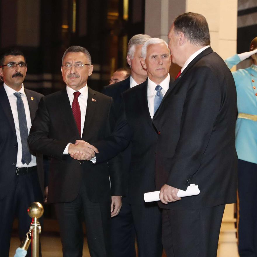 VPs Oktay and Pence after meeting on Thursday